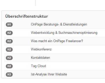 OnPage Optimierung OnPage Freelancer