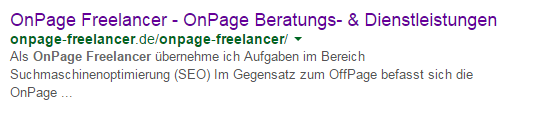 OnPage Optimierungen OnPage Freelancer