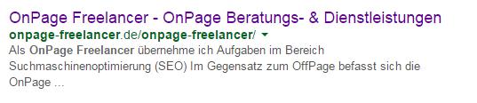 OnPage Optimierungen OnPage Freelancer